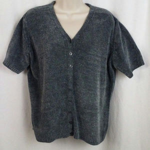 Kathie Lee Collection womens sweater Size L Gray